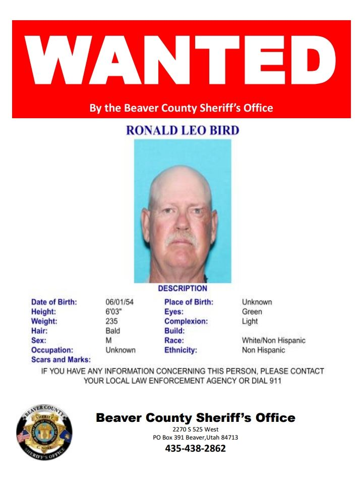 Wanted Poster for Ronald Bird